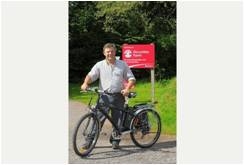 Work under way on cycle-friendly paths round park